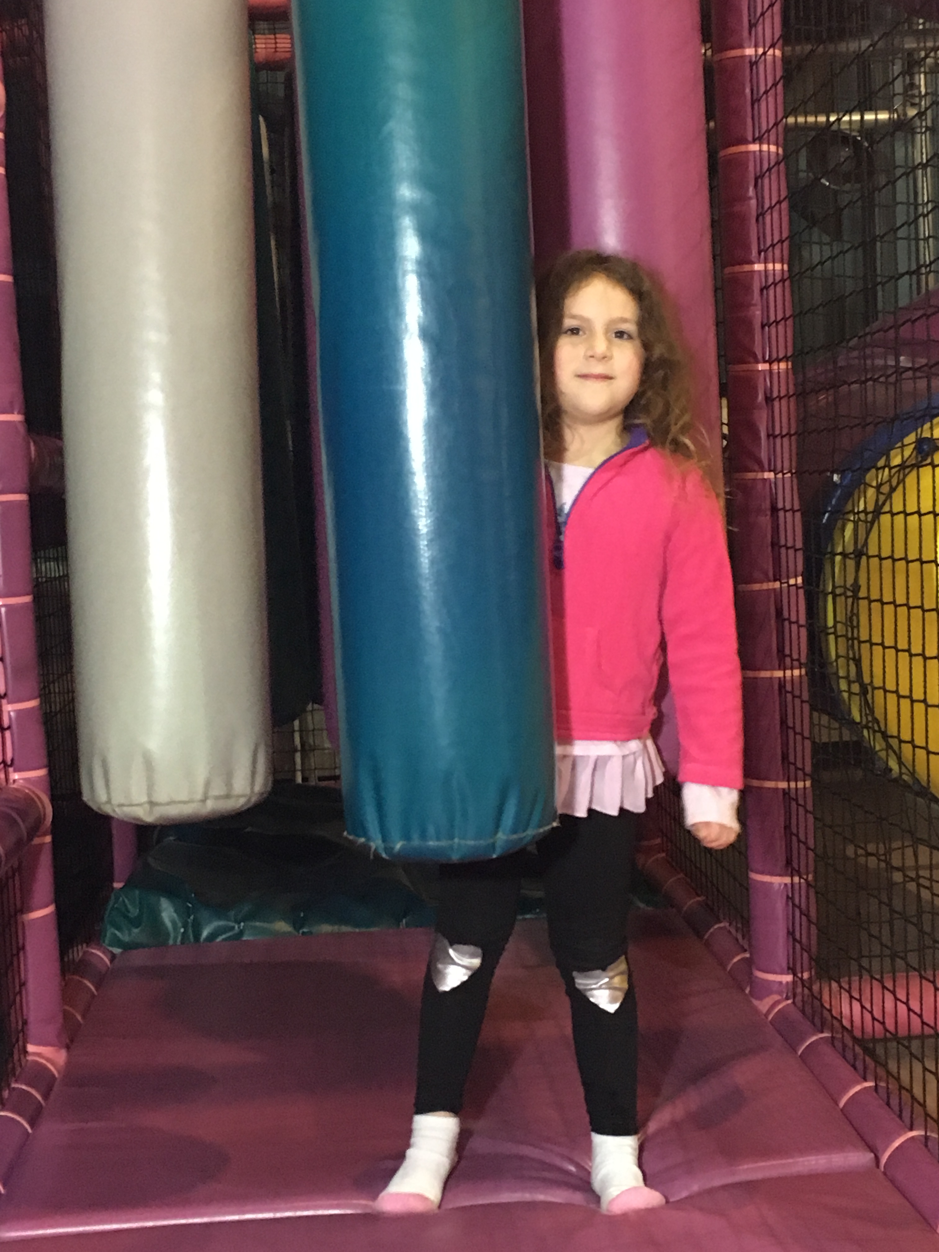 girl with punching bags